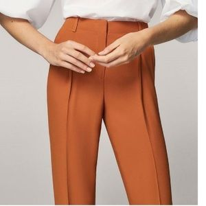 Massimo Dutti high waisted pleated front pants